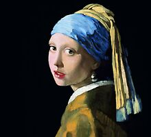 Girl With a Pearl Earring by arievanderwyst