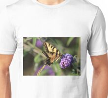 Eastern tiger swallowtail on butterfly bush Unisex T-Shirt