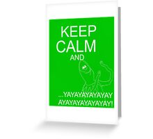 Keep Calm and Kermie On Greeting Card