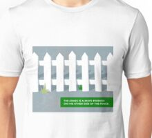 The grass is always #008000 Unisex T-Shirt