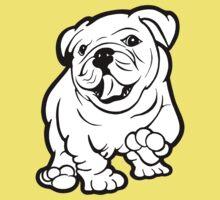Happy Bulldog Puppy  One Piece - Short Sleeve