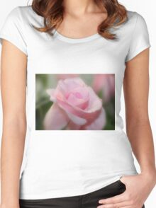 Tranquil Rose Women's Fitted Scoop T-Shirt