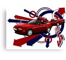 T-shirt 'Explosion' Mazda MX-5 ( Miata, Eunos) Canvas Print