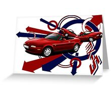 T-shirt 'Explosion' Mazda MX-5 ( Miata, Eunos) Greeting Card
