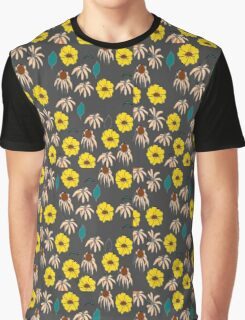 Vintage country floral black yellow pattern    Graphic T-Shirt