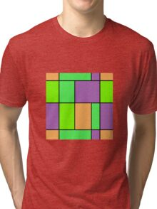 Abstract modern squares seamless pattern texture bright colors background Tri-blend T-Shirt