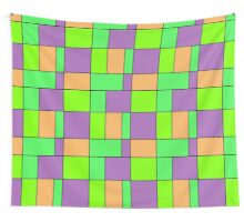 Abstract modern squares seamless pattern texture bright colors background Wall Tapestry