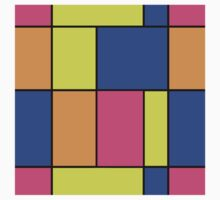 Abstract modern squares seamless pattern texture bright colors background One Piece - Short Sleeve