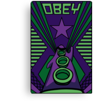 OBEY Purple Tentacle Canvas Print