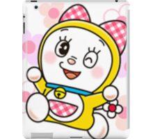 Cute Dorami Flower Doraemon Sister iPad Case/Skin