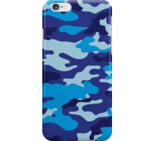 Camouflage (Blue) iPhone Case/Skin