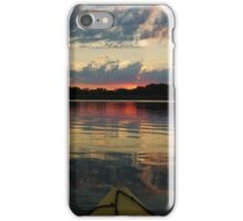 CLOUDS IN THE WATER AT DUSK iPhone Case/Skin