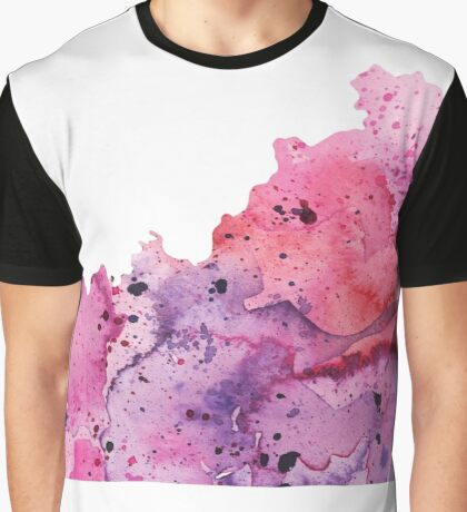 Watercolor Map of Kentucky, USA in Pink and Purple  Graphic T-Shirt