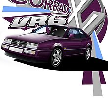 T-shirt 'Explosion' VW Corrado VR6 by RJWautographics