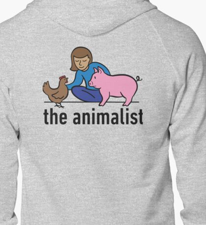 The Animalist - Colour on back Zipped Hoodie