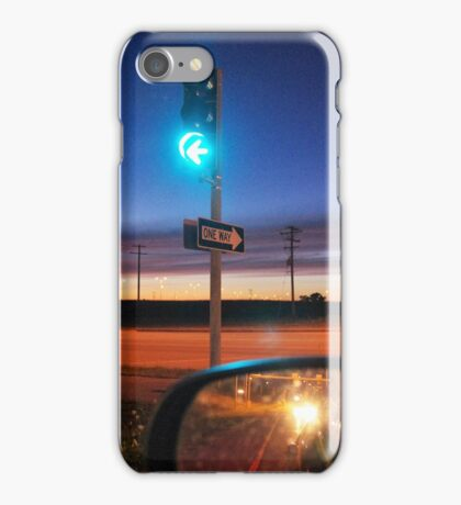 AT THE STOP LIGHT iPhone Case/Skin