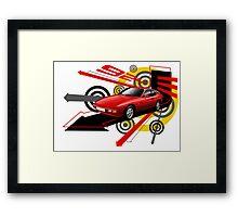 Porsche 924 T-shirt 'Explosion' Framed Print