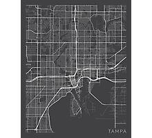 Tampa Map, USA - Gray Photographic Print