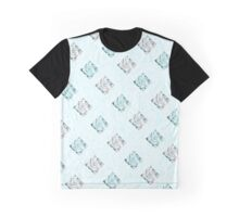 White and Turquoise Diamonds Graphic T-Shirt