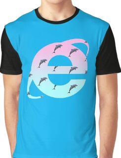 Vaporwave | Dolphins | Internet Explorer | HIGH QUALITY! | NEW! Graphic T-Shirt