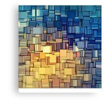 Blue & Yellow Abstract  Canvas Print