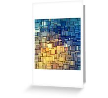 Blue & Yellow Abstract  Greeting Card
