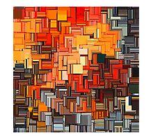 Orange Abstract  Photographic Print