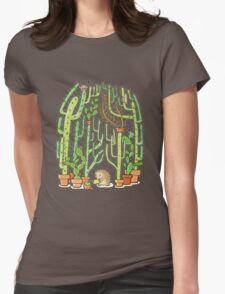 hedgehog cacti Womens Fitted T-Shirt