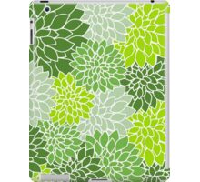 Green,lime,mint,white,retro,floral,design,vintage,pattern,chic,elegant iPad Case/Skin