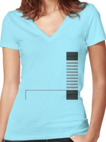 Minimal Entertainment System Women's Fitted V-Neck T-Shirt