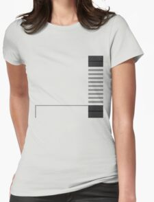 Minimal Entertainment System Womens Fitted T-Shirt