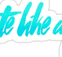 debate like a girl - teal Sticker