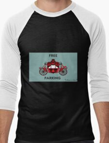 """Mozart and Marie """"Free Carriage Parking"""" Mozopoly Men's Baseball ¾ T-Shirt"""
