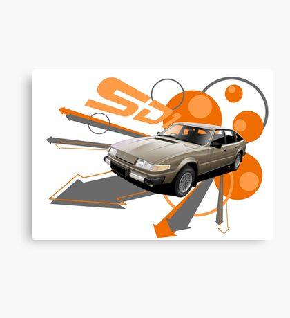 Rover SD1 V8 T-shirt 'Explosion' Canvas Print