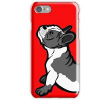 Boston Bull Terrier Puppy Black and White iPhone Case/Skin