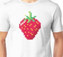 Pixel Strawberry Unisex T-Shirt