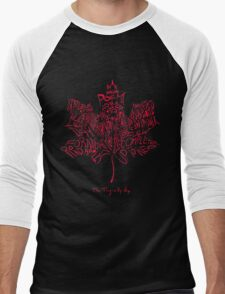 THE TRAGICALLY HIP - TYPOGRAPHY FONT RED Men's Baseball ¾ T-Shirt