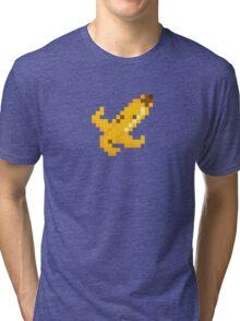 8 Bit Banana Skin Tri-blend T-Shirt