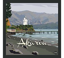 Akaroa light house, NZ by Ira Mitchell-Kirk Photographic Print