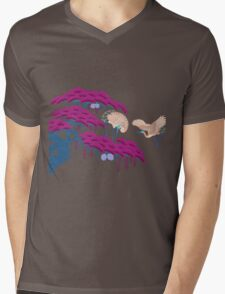 Cranes Mens V-Neck T-Shirt