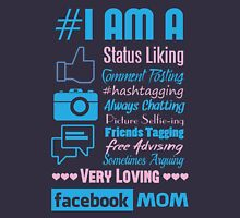 I Am A Facebook Mom Womens Fitted T-Shirt