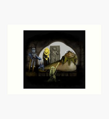 Kermit the Hutt Art Print