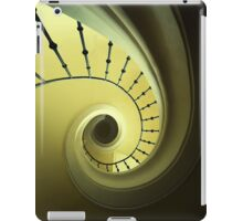 Green and yellow spirals iPad Case/Skin