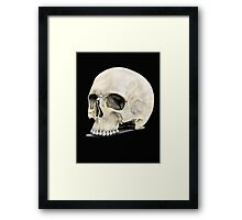 skull drawing Framed Print