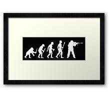 Sniper Evolution Of Man Funny Marksman T Shirt  Framed Print