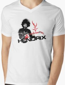 Jimmy Hendrix  Fire Mens V-Neck T-Shirt