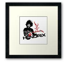Jimmy Hendrix  Fire Framed Print