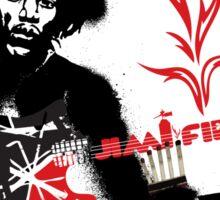 Jimmy Hendrix  Fire Sticker