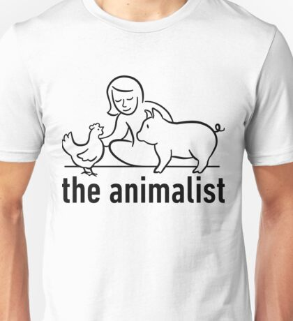 The Animalist - Black on white Unisex T-Shirt