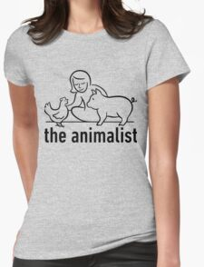 The Animalist - Black on white Womens Fitted T-Shirt